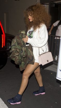 July 26: Rihanna at a recording studio in LA