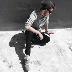 Casual streetwear look • Instagram: @edriancortes - - #casual #men #streetwear #streetstyle #fashion #blvck #adidastubularshadow