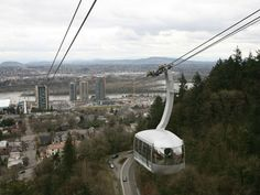 The Portland Aerial Tram, connecting the city's South Waterfront district with Oregon Health & Sciences University's Marquam Hill. Description from scoopweb.com. I searched for this on bing.com/images
