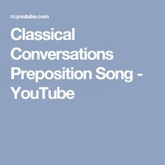 The new periodic table song lyrics in order youtube teaching classical conversations preposition song youtube urtaz Images