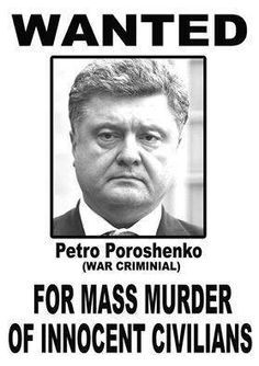 Poroshenko. (Petró Oleksíyovych Poroshenko). President of Ukraine. President of Ukraine. Oligarch and mass murderer. Consented to and supported by the EU and NATO.