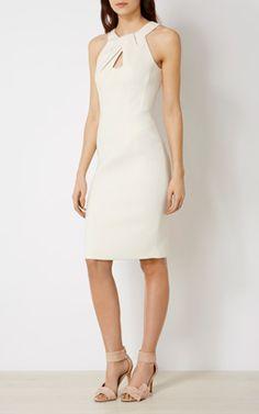 KNOT-NECKLINE PENCIL DRESS