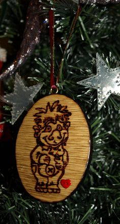 Button Gnome Wooden Christmas Ornament Hand by 25CandyCaneLane