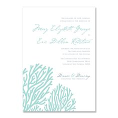 Coral - Unique Wedding Invitation by The Green Kangaroo
