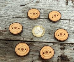 Wood Buttons6 Handmade red Pine tree branch by forestinspiration, $7.00
