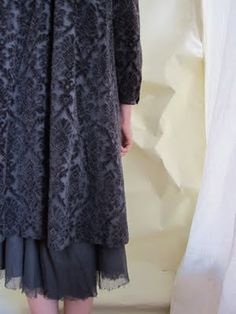 velvet coat with shredy chiffon underneath
