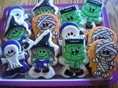 Go Bo Foundation Halloween Cookies Thanksgiving Cookies, Fall Cookies, Iced Cookies, Cute Cookies, Holiday Cookies, Gourmet Cookies, Halloween Food For Party, Halloween Cakes, Cute Halloween