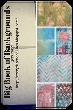 Create a Big Book of Backgrounds for future projects. #artjournaling #mixedmedia #dylusions