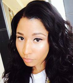 nicki minaj with makeup and wave - Google Search