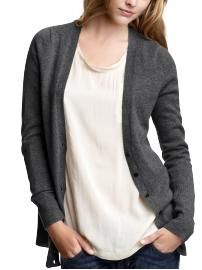 cardigan, plain colored cotton top, and jeans? yes, please.