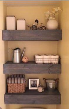 Bath Room floating shelves