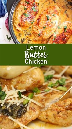 Destined to be a family favorite! Easy to make, and enough flavor for the whole family! DON'T let chicken be boring! A delicious Lemon Butter Chicken. Seasoned chicken in a creamy lemon butter sauce that is sure to delight. Butter Chicken Rezept, Lemon Butter Chicken, Greek Lemon Chicken, Garlic Butter, Healthy Low Carb Recipes, Keto Recipes, Recipes Dinner, Pizza Recipes, Valentines Dinner Recipes