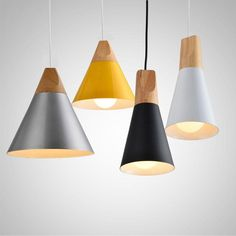 #Nordic #Pendant #Lights #For #Home #Lighting #Modern #Hanging #Lamp #Wooden #Aluminum #Lampshade #LED #Bulb #Bedro - ICON2 Unqiue Design Boutique Designer Decor Trends: Nordic Pendant Lights For Home Lighting Modern Hanging Lamp Wooden Aluminum Lampshade LED Bulb Bedro
