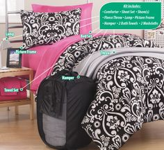 Get Ready for back to school! These Bed Kits are a perfect fit for your college kiddo. #AnnasLinens #College #Dorms