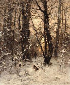 The Athenaeum - Winter Twilight (Ludwig Munthe - )