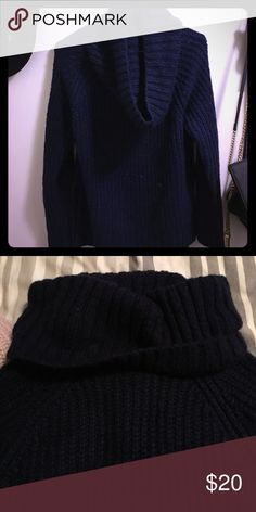 Comfy cozy cowl neck sweater Super warm super cozy! Can wear neck multiple ways . Also have in blush pink Tobi Sweaters Cowl & Turtlenecks