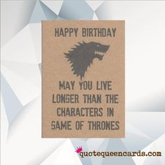 Excited to share the latest addition to my #etsy shop: Funny Birthday Card, Jon Snow, Game of Thrones Card, GOT, Funny Game of Thrones Card, Game of Thrones Gift http://etsy.me/2BP400P