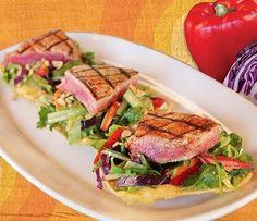 Carolina Ale House seared Ahi Tuna Salad....I love CAH's salads.  They are the best!