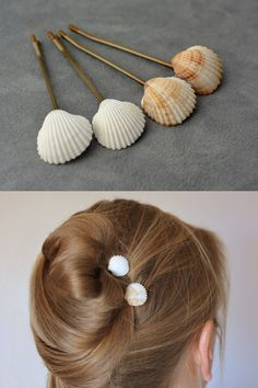 + de 10 ideias diy para customizar grampos de cabelo + tutoriais – Pra Quem Tem Estilo How to make a fan? Find the fan supplies, wooden sticks, fabric, and sheets to create your custom fan. DIY tutorials to make a range of quality. Seashell Jewelry, Seashell Crafts, Mason Jar Crafts, Mason Jar Diy, Diy And Crafts, Arts And Crafts, Kids Crafts, Ideias Diy, Bridal Hair Pins