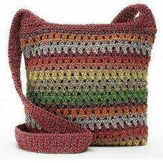 Discover thousands of images about Croft & Barrow® Crochet Harmony Crossbody Bag Crochet Market Bag, Crochet Tote, Crochet Handbags, Crochet Purses, Crochet Yarn, Crochet Shawl, Drawstring Bag Diy, Drawstring Bag Pattern, Crochet Shoulder Bags
