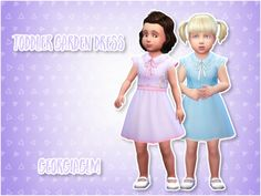 ⏩ Toddler Garden Dress ⏪ ⏩ These dresses are adorable and I converted them from the romantic garden pack BUT they're basegame compatible! ⏩ There is clipping on the sleeve seam and it doesn't bother me but I thought I'd let you know, also if anyone...