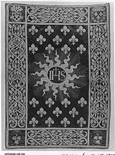 Banner, Processional  Date: ca. 1516   Culture: French or Italian   Medium: Silk and metal thread on silk Dimensions: H. 51 x W. 36 1/2 inches (129.5 x 92.7 cm)