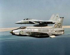 Royal Saudi AF BAC Lightning and F-15 Eagle.                                                                                                                                                                                 More