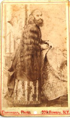 Rare CDV of Annie Jones,Barnum's famous bearded lady c. 1880.