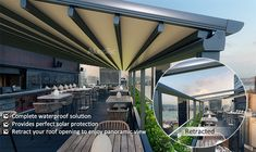 Outdoor Wind Resistance Waterproof Aluminium PVC Retractable Awning Roof with LED Awning Roof, Pergola With Roof, Aluminum Pergola, Retractable Pergola, Pvc Fabric, Outdoor Shade, Garden Makeover, Sunroom, Exterior