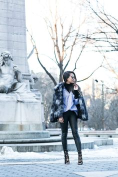 Into the Weekend :: Faux fur coat