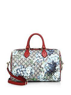 c2fa3d7b2656 Gucci - Small GG Blooms Supreme Boston Bag