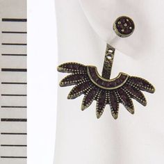Crystal pave feathered ear jacket Crystal pave feathered ear jacket Jewelry Earrings
