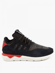 Adidas Originals | Black Panelled Tubular Moc Runner Sneakers | oki-ni