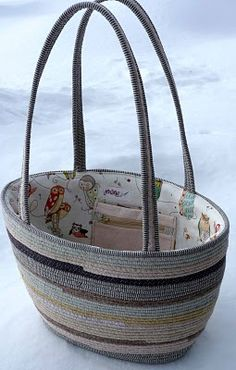 clothesline tote - lined