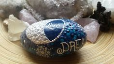 Items similar to SOLD: Hand-painted Rock Art Hand-painted Stone Mandala Stone Mandala Art, Meditation Stone Night Theme Blue Sky, Moon and Stars on Etsy Night Skies, Christmas Bulbs, Mandala, My Etsy Shop, Stones, Drop, Jewels, Thoughts, Holiday Decor