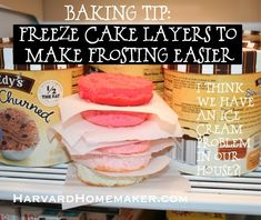 Always freeze cake layers to make frosting them simple! No more crumbling! And much easier to cut if you need to chop it into pieces. How To Make Frosting, Frosting Tips, How To Make Cake, Cake Decorating Tips, Cookie Decorating, Fondant, Freeze Cake, Cupcake Cakes, Shoe Cakes