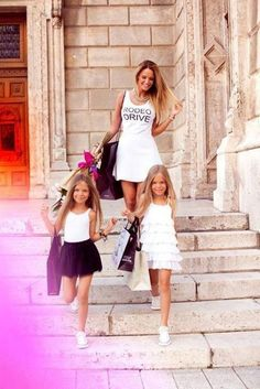Girl, shopping, and family ★ mother daughter pics мать Outfits Niños, Kids Outfits, Little Girl Fashion, Kids Fashion, Mom Daughter, My Princess, Mommy And Me, Mannequins, Kind Mode