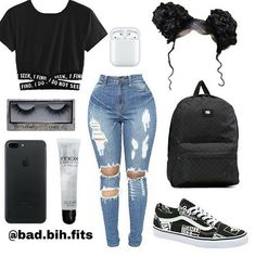 Fashion 2019 New Moda Style - fashion This time I put a mix of both ? Swag Outfits For Girls, Boujee Outfits, Cute Lazy Outfits, Cute Swag Outfits, Teenage Girl Outfits, Teen Fashion Outfits, Dope Outfits, Girly Outfits, Trendy Outfits