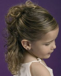 Pictures : How to Style Little Girls' Hair - Cute Long Hairstyles for School - Bun Hairstyle For Little Girls #beauty