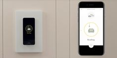 Noon Smart light switch w. built-in OLED panel - syncs all lights in house for different moods/activities