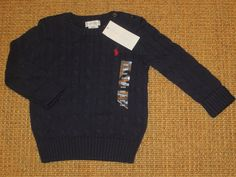 POLO RALPH LAUREN  BOY  24 MONTH  TODDLER  SWEATER  NAVY BLUE POLO PONY  NEW #PoloRalphLauren #Pullover