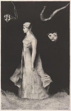 Odilon Redon | Haunting by Odilon Redon (French, Bordeaux 1840–1916 Paris)