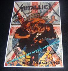 Metallica concert poster Wembley Arena London UK 1992 new A3 size repro   eBay