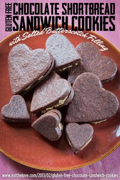 ... free chocolate shortbread sandwich cookies with salted butterscotch