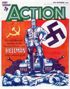 Cover for Action (IPC, 1976 series) October 1976 Comics Uk, War Comics, Vintage Comic Books, Vintage Comics, Abc Warriors, Morning Cartoon, Retro Toys, Comic Covers, Comic Character