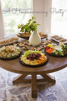 Housewarming party ideas. These ideas would work well for so many kinds of gatherings, showers, Football Sunday, etc.