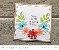 Modern Blooms, Whimsical Wishes, Modern Blooms Die-namics, Inside & Out Diagonal Stitched Square STAX Die-namics - Kimberly Crawford  #mftstamps