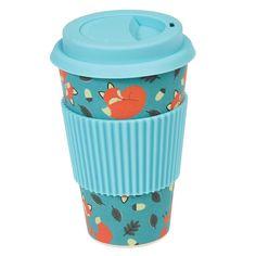 Rusty The Fox Eco-coffee Cup | dotcomgiftshop | Winter Sale Now On
