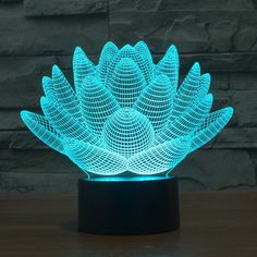 82b750812dc Lotus 3D Night Light 7 Colors Changing LED Table Lamp Gift