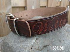Leather dog collar All handmade leren halsband  www.buddiezbydekameraad.nl